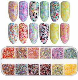 Flakes for nail design.