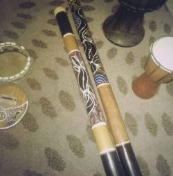 Didgeridoo and rain music