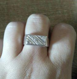 Кольцо печатка 19-19,5размер925 проба