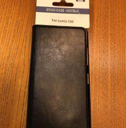 Шкіряний чохол оригінальний для Nokia Lumia 550