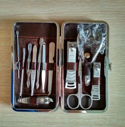 Manicure set of 12 items