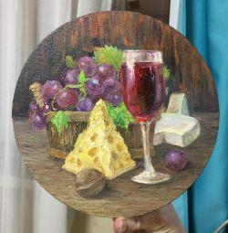 Imagine rotundă pentru vinul și brânza de bucătărie