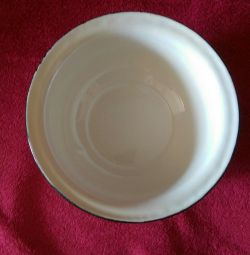 The bowl is enameled.