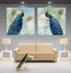 2 pictures new peacocks photo print