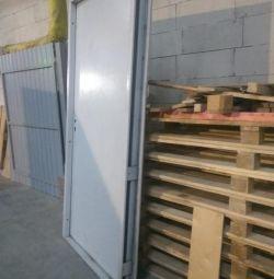 The door is metal entrance new