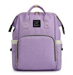 USB menekşeli anneler için yeni kadın sırt çantası