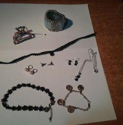 Bijouterie (watches, earrings, bracelets, hairpins ...)