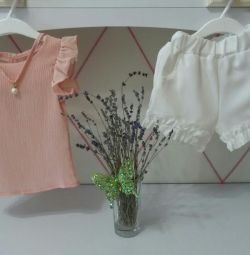 Children's suit blouse and shorts (new)