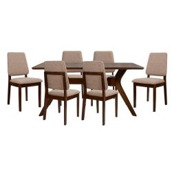 Dining Room Set 7MM WALNUT TABLES & CHAIRS GIB