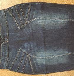 Новая джинсовая юбка Бершка,42-44р