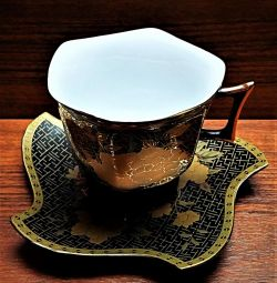 Pereche de ceai Aur Yamasen 24K Japonia