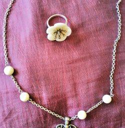 Ожерелье с кольцом