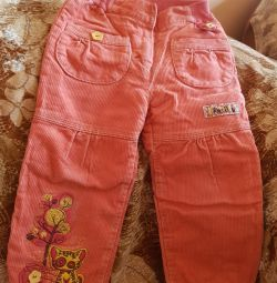 I will sell trousers children's velveteen