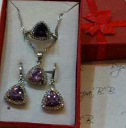Silver set new.
