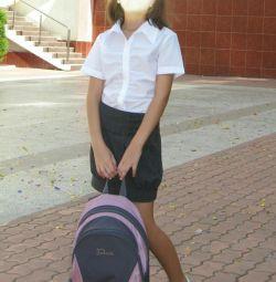 7-9 yaş kızlar için gömlek okulu