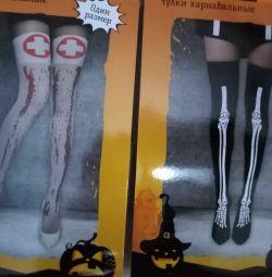 Stockings Nurse Bones for Halloween