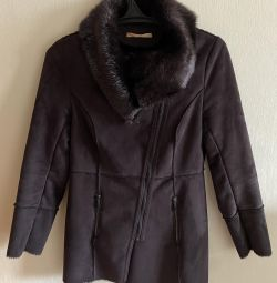 Sheepskin coat Zarina demi-season