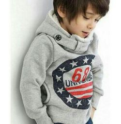 Sweatshirt for a boy, insulated, new
