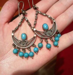 Earrings silver + turquoise