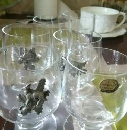 Wine glasses, set of 6 pieces. Bohemia. Czech