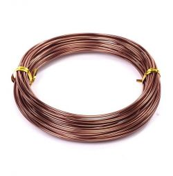 Проволока d 1,5мм цв. коричневый рул.10м
