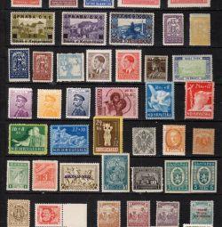 Колекція старих марок. чисті