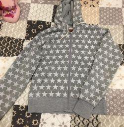 Sweatshirt with a zipper