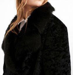 Σύντομη γούνα παλτό Έχασα μελάνι