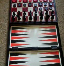 Șahul magnetic și din lemn