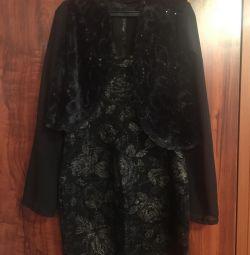 Платье чeрное новое и накидка 46-48 р