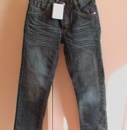 Children's jeans are new, height 110