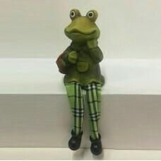 Frog with soft legs 9 * 6 * 12 cm