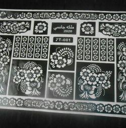 Трафарет для мехенди