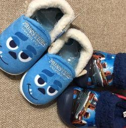 Warm children's slippers - sandals p.26, 27