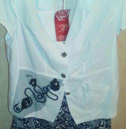 Μπουφάν κοστούμι + φούστα (καλοκαίρι) p, 50,52,56 1800