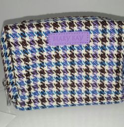 Tweed handbag purple