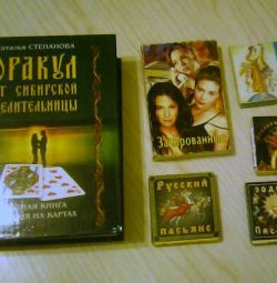 Book of fortune telling, cards, solitaire