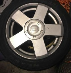 3 normal tyres and 1 spacesaver all with alloys