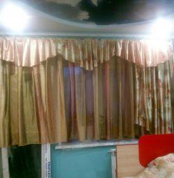Bir dizi perde ve yatak örtüsü