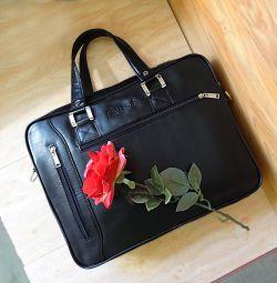 Deri erkek çantası Rusya