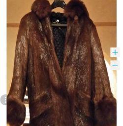 Fur coat natural (nutria)