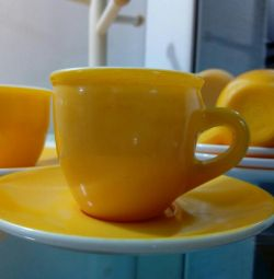 Coffee cups and saucers 6 pcs.