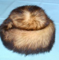 Pălărie dihor de blană feminină, dimensiunea 57-58