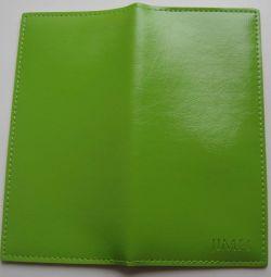 Purse green imitation leather Jimei, size 18 * 9 * 1cm