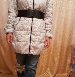 Extra long overcoat demi-season