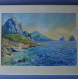 """Pastel cu imagine """"Sea and Rock"""""""