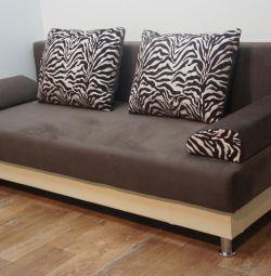 New Sofa Livorno Zebra Flax Sound Dark