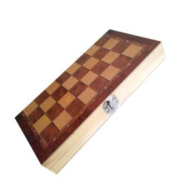 Backgammon, sah, dame 3 in 1 (lemn)