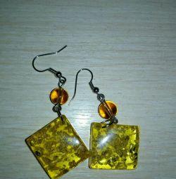 Amber Imitation Earrings