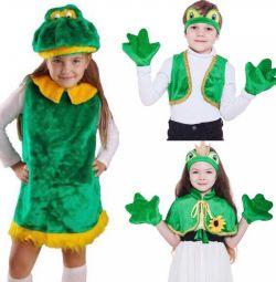 Κοστούμια βατράχων για ένα αγόρι και ένα κορίτσι